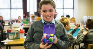 Lucy Connolly of Kilkerley Mixed National School, Dundalk, which came up with the idea of Bonker Balls. Photograph: Jerry Kennelly