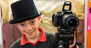 Aaron Comerford of Bayside National School, Dublin 13, which came up with the Bayside Photo Booths. Photograph: Jerry Kennelly
