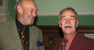 Musician Paddy Cole, left, and late actor Robert Carrickford. File photographL: Frank Miller/The Irish Times