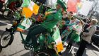 Revellers taking part in the St Patrick's Day parade through central London last Sunday. Photograph: Tristan Fewings/Getty Images