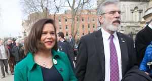 Gerry Adams was due to attend the annual White House event, hosted by president Barack Obama, with party deputy leader Mary Lou McDonald and Northern Ireland Deputy First Minister Martin McGuinness. Photograph: Gareth Chaney/Collins