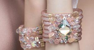 Blush embellished seven-piece cuff with large sparklers €165