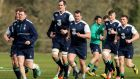 The Irish team is expected to be unchanged for the visit of Scotland. Photograph: Donall Farmer/Inpho