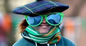 A participant at the St Patrick's Day parade in  Dublin, March 17th, 2016. Photograph: Niall Carson/PA Wire