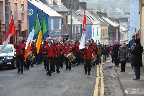 The first St Patrick's Day parade in Ireland took place in Dingle, Co Kerry at 5.55am. The Dingle Fife and Drum Band played on the streets and arrived at mass at 6.40am at St Mary's Church Dingle. Over 200 locals took part. Photograph: Domnick Walsh/Eye Focus