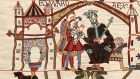 Edward the Confessor depcited on the  Bayeux Tapestry