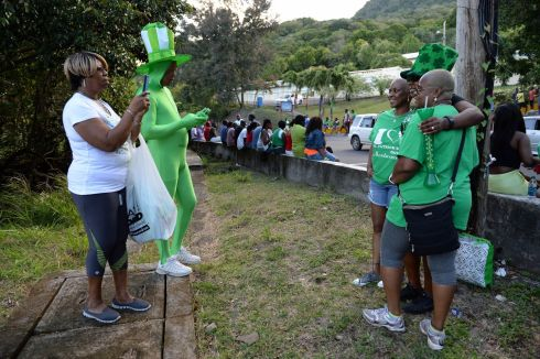 St Patrick's Day in Salem, Montserrat, West Indies. Photograph: Frank Miller
