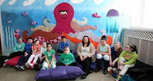 On the up: Caithriona Carty of Mindfulness Matters with children in the sensory room at Scoil Íosa in Ballina. Photograph: Brian Farrell