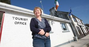 On the up: Carol Loftus of the Green Plan at the tourist office  in Mulrany. Photograph: Brian Farrell