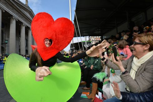 The 2016  St. Patricks Day parade as it winds its way through Dublins main streets. Fine weather and record crowds made the parade  the highlight of the St. Patricks Festival. Photograph: Alan Betson / The Irish Times