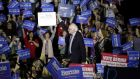 Revolutionary spirit: Bernie Sanders campaigning for the Democratic Party nomination to run for the White House. Photograph: Joshua Lott/Getty
