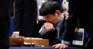 Shellshocked: Lee Sedol reviews the match after losing the Google DeepMind Challenge series 4-1