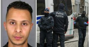 Police in Belgium said that Salah Abdeslam (left), the main fugitive from Islamic extremist attacks in Paris in November, has been arrested in Belgium's capital after four months at large.
