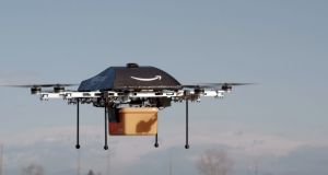 The US Federal Aviation Authority  has granted Amazon permission to test its new Prime Air   delivery drone under 400ft and at a maximum speed of 100mph. Photograph: Amazon/AP