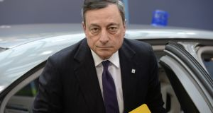 Don't be fooled by Mr Draghi when he signals that interest rates have been cut as low as they can go, as he did at the ECB's March policy meeting. Photograph: Thierry Charlier/AFP