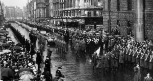 The  funeral of Roger Casement. Photograph: McMahon/Getty Images