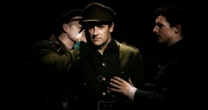 Don Wycherley, Ronan Leahy and Gavin Fullam in Inside the GPO by Colin Murphy, in a production by Fishamble in partnership with Fáilte Ireland. Photograph: Dan O'Neill