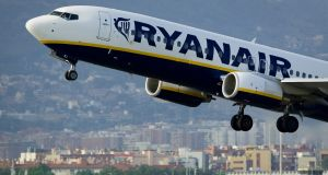 Ryanair Holdings gets about 27 per cent of its sales from the UK but says that a Brexit would not have an immediate impact on its business. (Photograph: JOSEP LAGO/AFP/Getty Images)