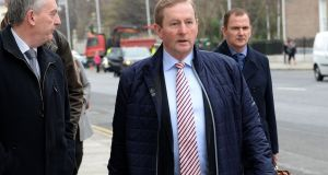 Acting Taoiseach Enda Kenny expressed his 'sincere and deepest' sympathy with the relatives of those who lost their lives in Donegal. Photograph: Eric Luke / The Irish Times
