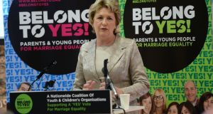 Former president Mary McAleese says new  report is 'as essential and revealing as it is horrifying'. Photograph: Dara Mac Donaill / The Irish Times / File photo
