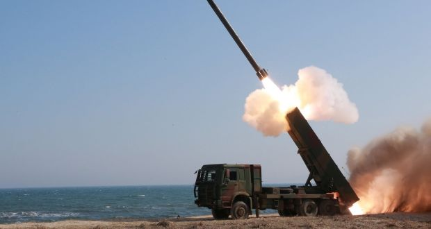 Kim Jong Un Inspects New Large Calibre Rocket Launcher