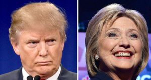 Republican Donald Trump and Democrat Hilary Clinton are frontrunners to secure their parties' nominations for the presidential election. Photograph: AFP