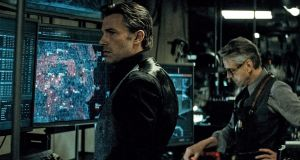 Ben Affleck and Jeremy Irons in Batman v Superman: Dawn of Justice