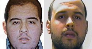 Brothers Brahim El Bakraoui (left) and Khalid El Bakraoui who carried out suicide bomb attacks in Brussels. Photograph: EPA