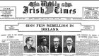 The front page of the Weekly Irish Times published just after the Easter Rising