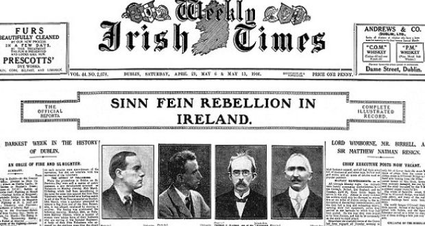 the irish times in 1916 a newspaper in focus