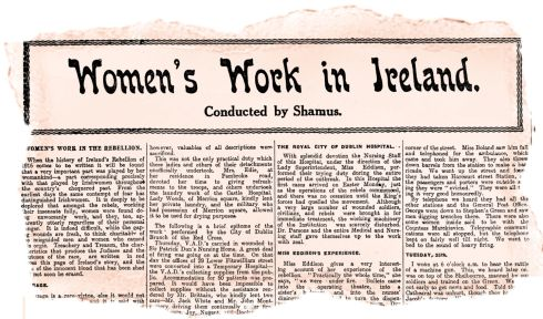 Risen women: The 'Weekly Irish Times' chronicles in detail what women did during the Rising, noting that men had no monopoly on courage