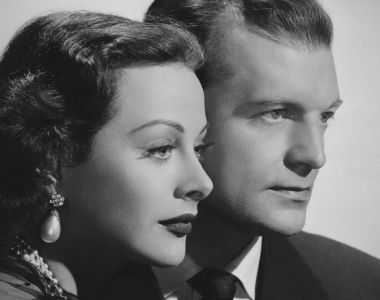 John Loder with his wife, Hedy Lamarr, in 1947. Photograph:  Keystone Pictures/FPG/Archive Photos/Getty Images