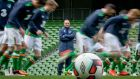 Republic of Ireland manager Martin O'Neill oversees squad training at the Aviva Stadium. Photograph: Morgan Treacy/Inpho