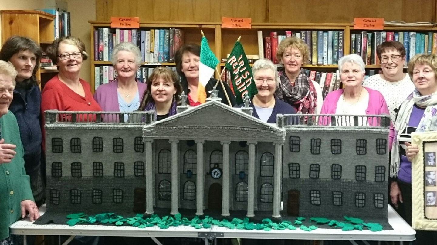 Knitting Jobs Ireland : Knitting the rising west cork group recreate gpo in wool