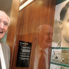 Davy Walsh at the unveiling of a commemorative display in honour of former internationals Walsh and Con Martin at the FAI headquarters in Abbotstown, Dublin in 2009. Photograph: Brian Lawless/Sortsfile
