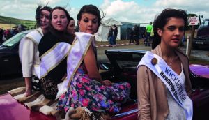 """These 'lovely girls' were being driven around the Tinahely Show. The winner, the Wicklow Rose, would go on to the Rose of Tralee. It was a snapshot of rural Ireland."""