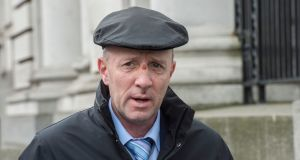 Michael Healy-Rae: Independent TD survived a seven-hour talks marathon on heavy-duty painkillers after being attacked and injured by a calving cow on his farm last weekend. Photograph: Brenda Fitzsimons