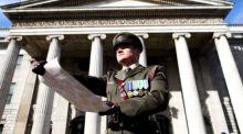 Proclamation reading at the GPO