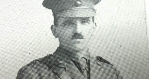 Lt Gerald Neilan of the Royal Dublin Fusiliers