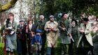 RTÉ Reflecting the Rising: A re-enactment of the Rising in St Stephen's Green on Easter Monday. Photograph: Maxwells