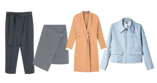 a6e8baeda83 From left: Cos crossover fly and belt trousers, €79; Cos skirt with