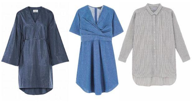 7d086c5a58b3c From left: Acne kimono dress, €300; Cos denim wrap dress, €