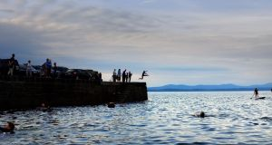 Pier jumping in Creevy Co Donegal. File photograph: Bryan O'Brien/The Irish Times