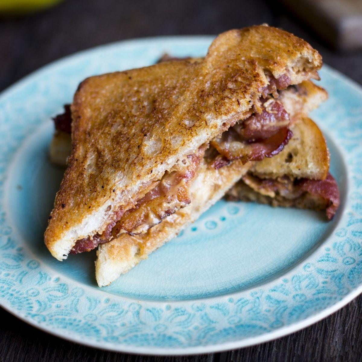 The Elvis Peanut Butter Banana Bacon Sandwich