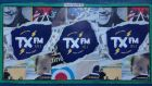 Posters promoting TXFM on its launch in 2014. The alternative music station was previously known as Phantom and began life as a pirate broadcaster