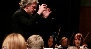 Barry Douglas conduct Camerata Ireland. Photograph: Frances Marshall