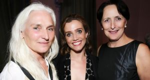 Olwen Fouéré, Lisa Dwan and Fiona Shaw at the NCH. Photograph: Frances Marshall