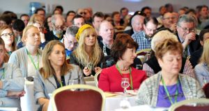 Delegates at the ASTI annual convention in Cork. Photograph: Daragh Mc Sweeney/Provision