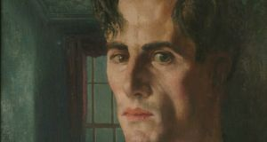 Detail from Portrait of Denis William Hamilton Hurley (1945) by Patrick Hennessy. Copyright the artist's estate