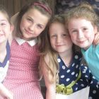 From left: Romy and Ava Flynn, and Orlaith and Clodagh Nic Dhomhnaill, who took part in a ceremony devised by their parents as an alternative to First Communion
